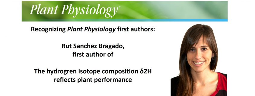 Recognizing Plant Physiology First Authors: Rut