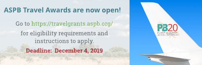 ASPB Travel Awards are now open!