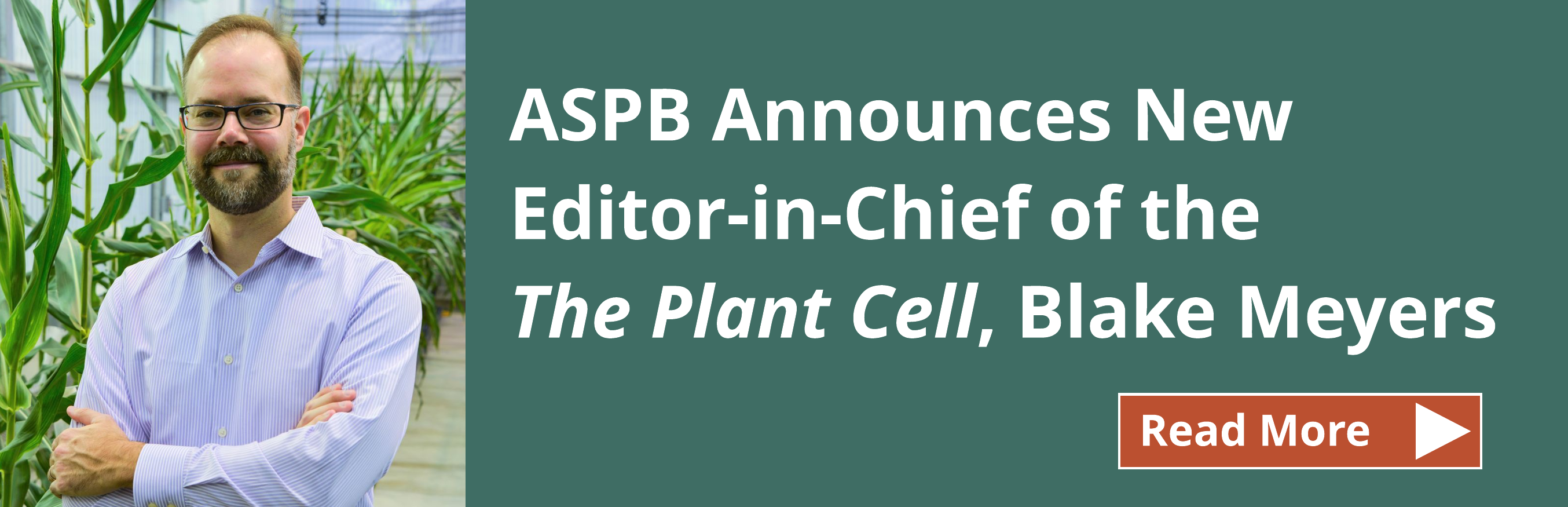 ASPB Announces New Editor in Chief of the Plant Cell Blake Meyers