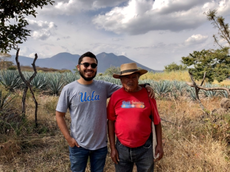 Manuel and his grandfather, Antonio Mora who continues to farm and tend his crops every day, except for Sundays which he reserves for family and church. This image was taken during a hike we shared in Santiago Tangamandapio Michoacan during December 2019, where he took Manuel to share the site and tree where his own grandfather passed.